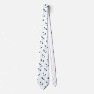 White Unicorn Cartoon Tie
