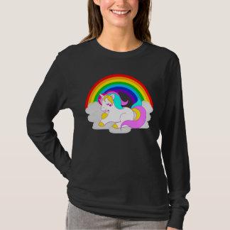 White Unicorn Cloud Rainbow Women's Long Sleeve T-Shirt