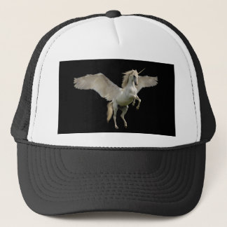 White Unicorn Pegasus Trucker Hat
