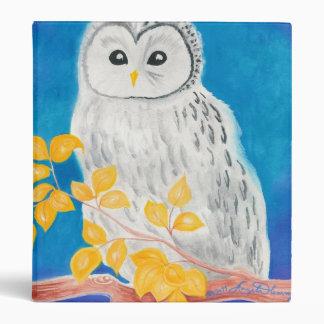 White Ural Owl Binder