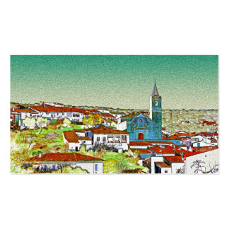 White Valdelarco in multicoloured, church and hous Business Card