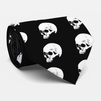 White Vampire Skull Tie