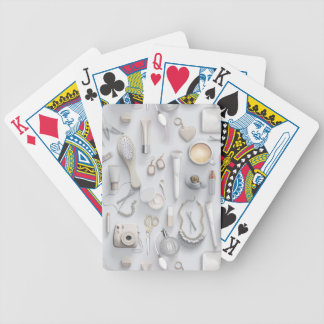 White Vanity Table Bicycle Playing Cards