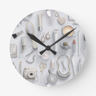 White Vanity Table Wall Clocks