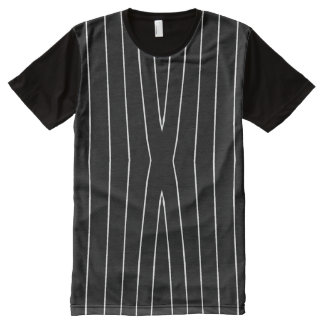 White Vertical Lines American Apparel Shirt