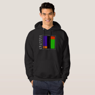 WHITE VERTICAL TITLE WITH THE GOOD COLORS HOODIE