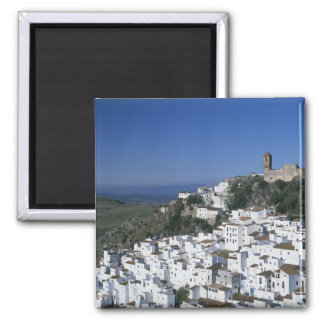 White Village of Casares, Andalusia, Spain 2 Square Magnet