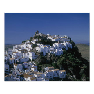 White Village of Casares, Andalusia, Spain Poster