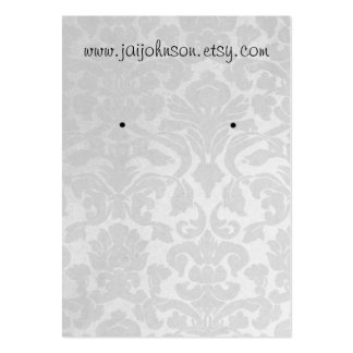 White Vintage Background Earring Cards Large Business Card