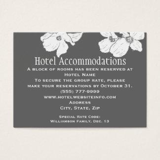 White Vintage Dogwood Hotel Accommodation Cards