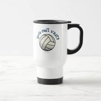 White Volleyball Team Travel Mug