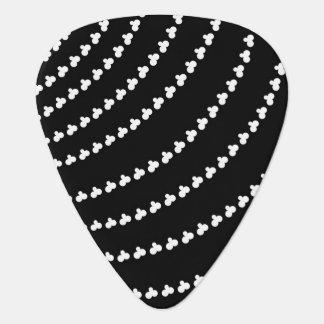 White Vortex Guitar Pick