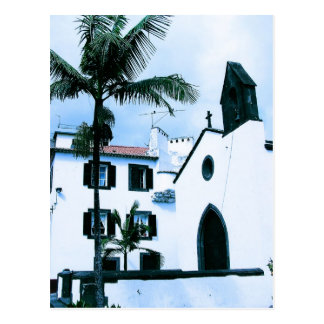 White wall Buildings at Funchal Portugal Postcard