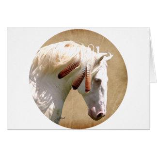 White War Horse Card