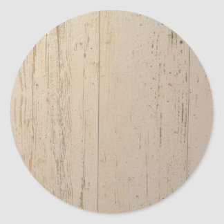 White washed classic round sticker