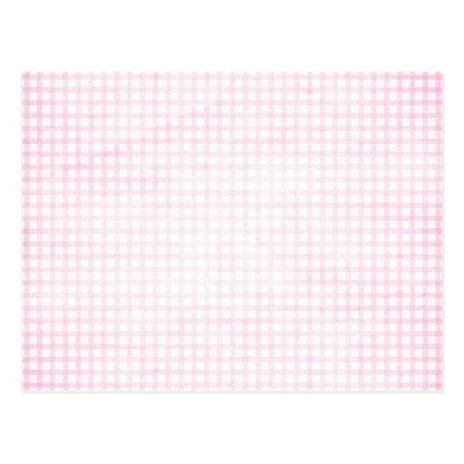 White Washed Pink Postcard