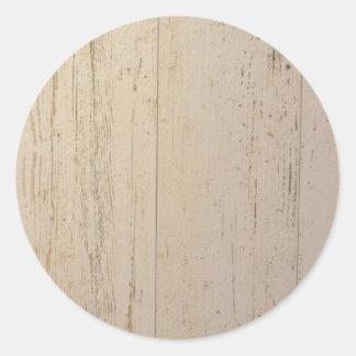 White washed round sticker