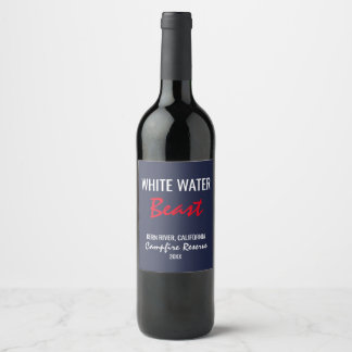 White Water Beast Campfire Reserve Wine Label