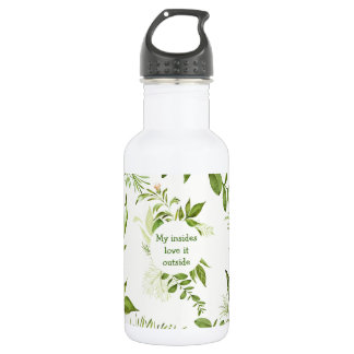 White water bottle for hiking nature lovers