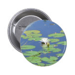 White Water Lilies Button