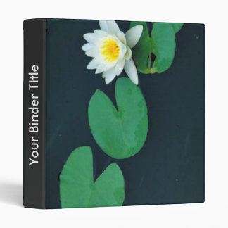 White water lily vinyl binder