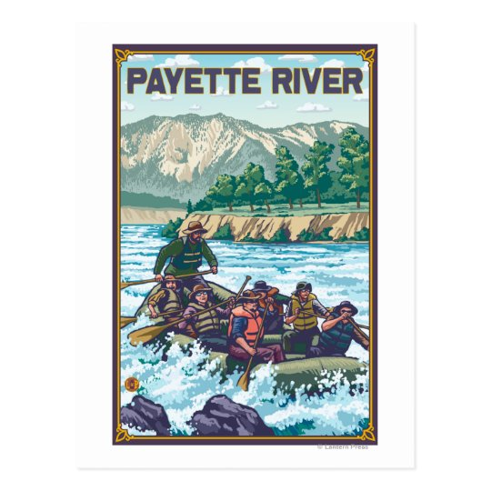 White Water Rafting - Payette River, Idaho Postcard