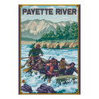 White Water Rafting - Payette River, Idaho Poster