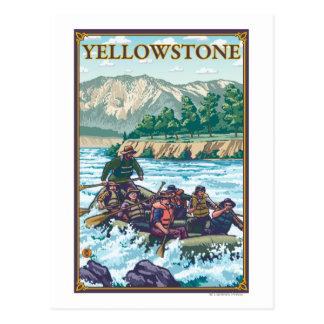 White Water Rafting - Yellowstone National Park Postcard