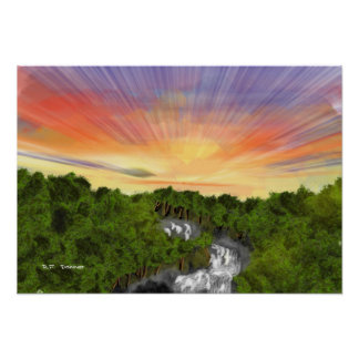White water sunrise posters