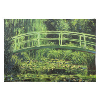 White Waterlilies by Claude Monet, Vintage Art Placemat