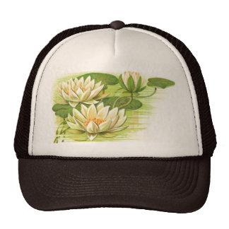 White Waterlilies Trucker Hat