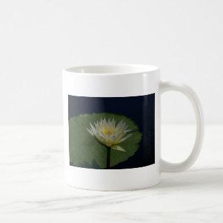 White Waterlily Mug