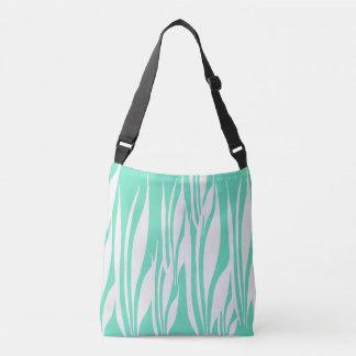 white wavy  tote bag