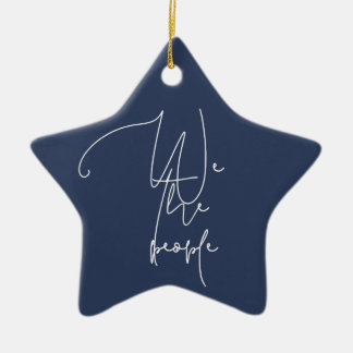 White We the people Ceramic Ornament