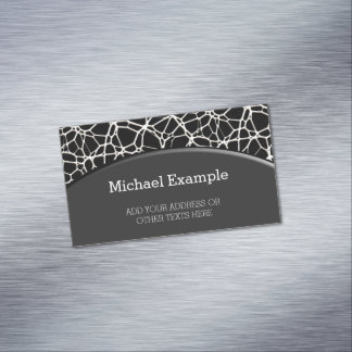 White Web Texture + your bachgr. & ideas Magnetic Business Card