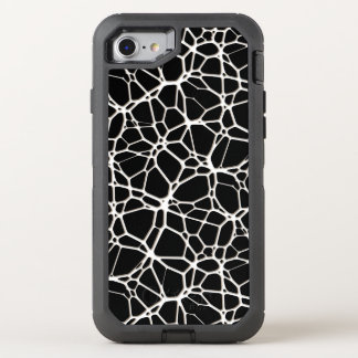 White Web Texture + your bachgr. & ideas OtterBox Defender iPhone 8/7 Case
