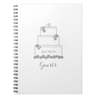 White Wedding Cake Guest Book