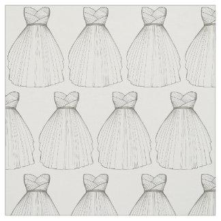 White Wedding Dress Bride Bridal Gown Fabric