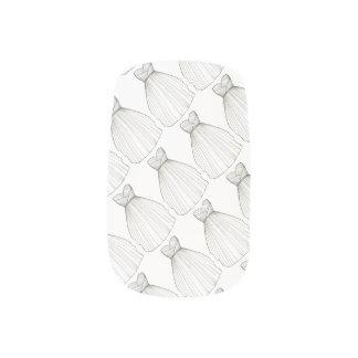 White Wedding Dress Gown Bride Bridal Shower Nails Minx Nail Art