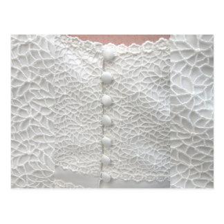 White Wedding Grown - Customizable - Customized Postcard