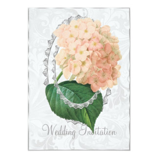 White Wedding Hydrangea Wedding Invitation Card