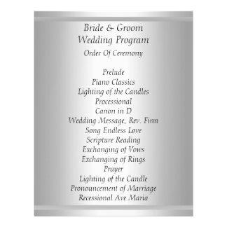 White Wedding Program