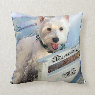 White West Highland Terrier Adorable Me Throw Pillow