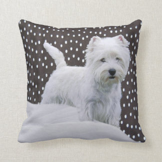 White West Highland Terrier Pillow
