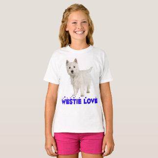 White West Highland Terrier Puppy Dog Westie Girls T-Shirt
