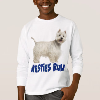 White West Highland Terrier Puppy Dog Westie Love T-Shirt