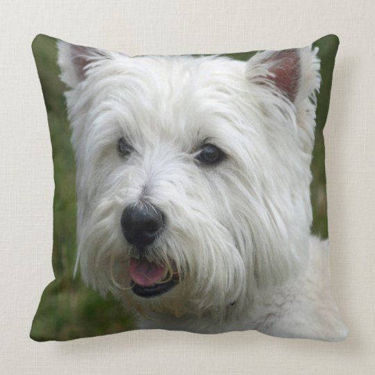 WHiTE WeST HiGHLaND TeRRiER Throw Pillow