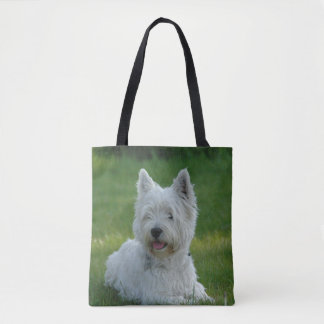 White West Highland Terrier Tote Bag