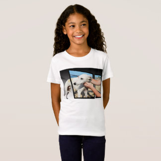 White Whippet Dog Dimensional Art, T-Shirt