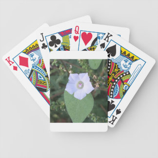White wild flower bicycle playing cards